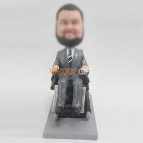 custom man and Wheelchair bobbleheads