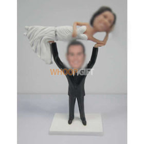custom Specially wedding cake bobbleheads
