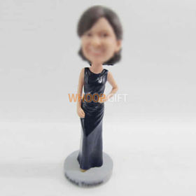 custom navy blue dress bobbleheads