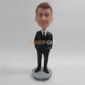 custom man in black suit bobbleheads