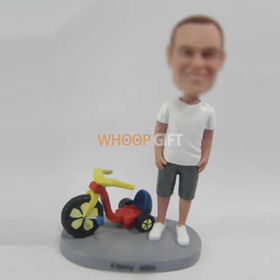 custom man with Scooter bobbleheads