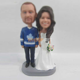 custom happiness wedding cake bobblehead doll