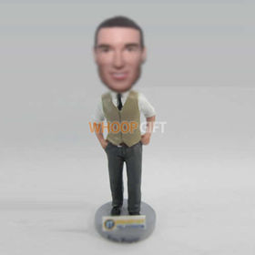 custom work man bobblehead doll