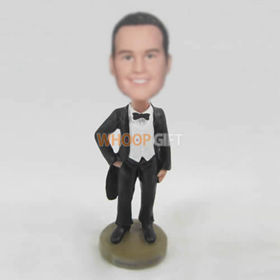 custom Black tuxedor bobble heads