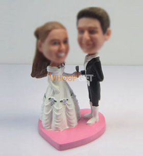 customized happiness wedding cake bobbleheads