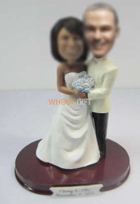customized happiness wedding cake bobble heads
