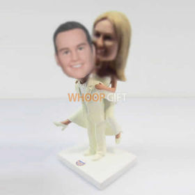 customized happiness wedding cake bobble head