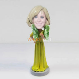 custom yellow dress bobble heads