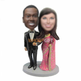 custom India wedding cake bobble heads