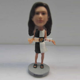 custom beautiful dress bobble head