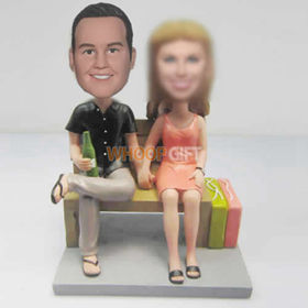 custom Dad with Mom bobbleheads