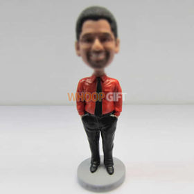 custom red shirt bobblehead