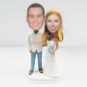 custom Bra wedding wedding cake bobbleheads