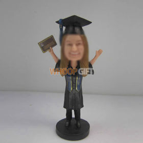 custom female Graduation bobbleheads