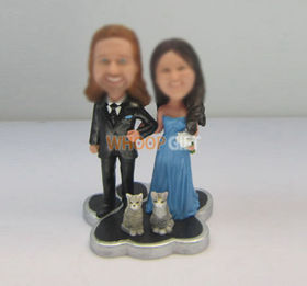 custom wedding cake bobbleheads