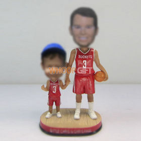 custom Dad and son bobble heads