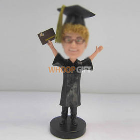 custom male Graduation bobbleheads