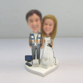 custom funny wedding cake bobble head