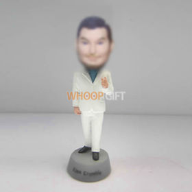 custom white suit bobbleheads