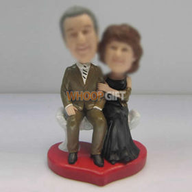 custom Dad and Mom bobbleheads