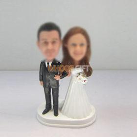 custom funny wedding cake bobblehead doll