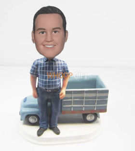 custom man with Truck bobbleheads