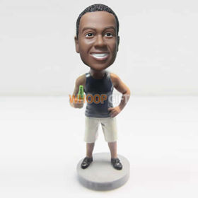 custom man with shorts bobbleheads