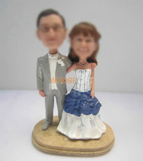 custom happy wedding cake bobbleheads