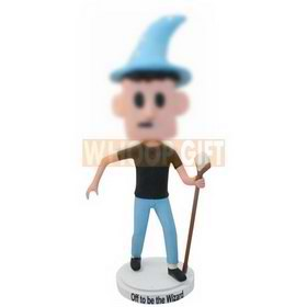 custom Halloween costume wizard bobbleheads