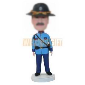 custom gift for father policeman bobblehead