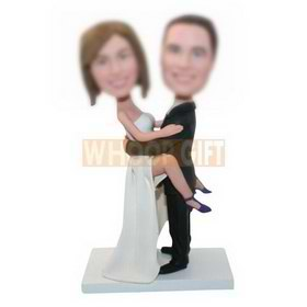 custom couple bobbleheads for wedding