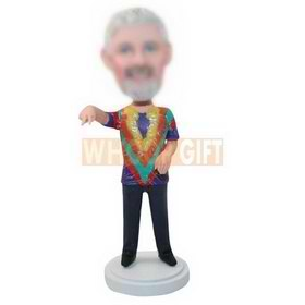 custom bobbleheads with colorful clothes