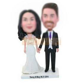 custom made anniversary gifts bobbleheads for couple