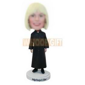 custom birthday gift woman judge bobbleheads