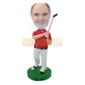 custom father's day gift golf man bobbleheads