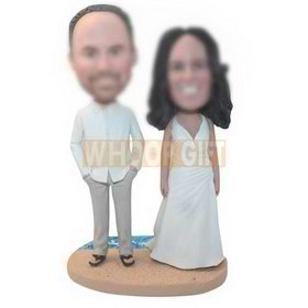 personalized bride and bridegroom wedding bobbleheads