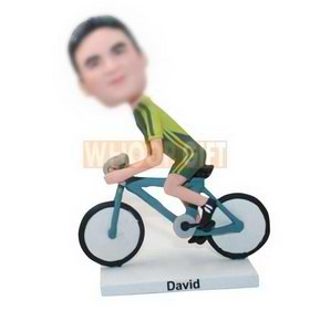 custom bike rider sportsman bobbleheads