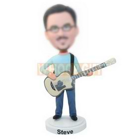 personalized custom guitarist bobblehead