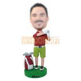 personalized custom golfer in street clothes