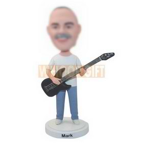 custom guitar player in leisure clothes bobbleheads