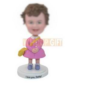 custom little girl bobbleheads for your daughter