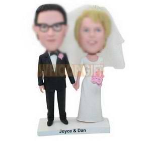personalized custom wedding cake topper bobbleheads