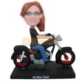 personalized custom chick ride on a hot motorcycle