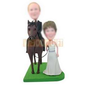 personalized custom sweet wedding bobbleheads