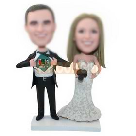 personalized custom happiness wedding bobbleheads