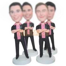 personalized custom best friends in the same clothes bobbleheads