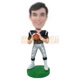 personalized custom american football player bobbleheads