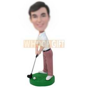 personalized custom golf player bobbleheads