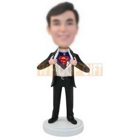 personalized custom superman in suit bobbleheads