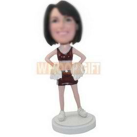 personalized custom female cheerleader bobbleheads